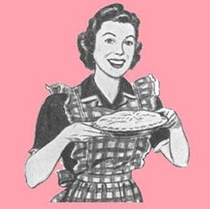 The wife providing a pie