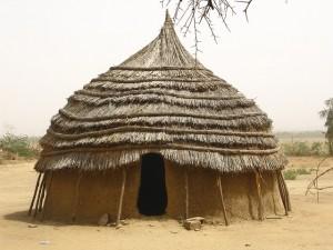 African village hut