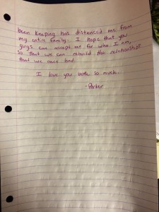Coming out as gay - letter from Parker (part 2)