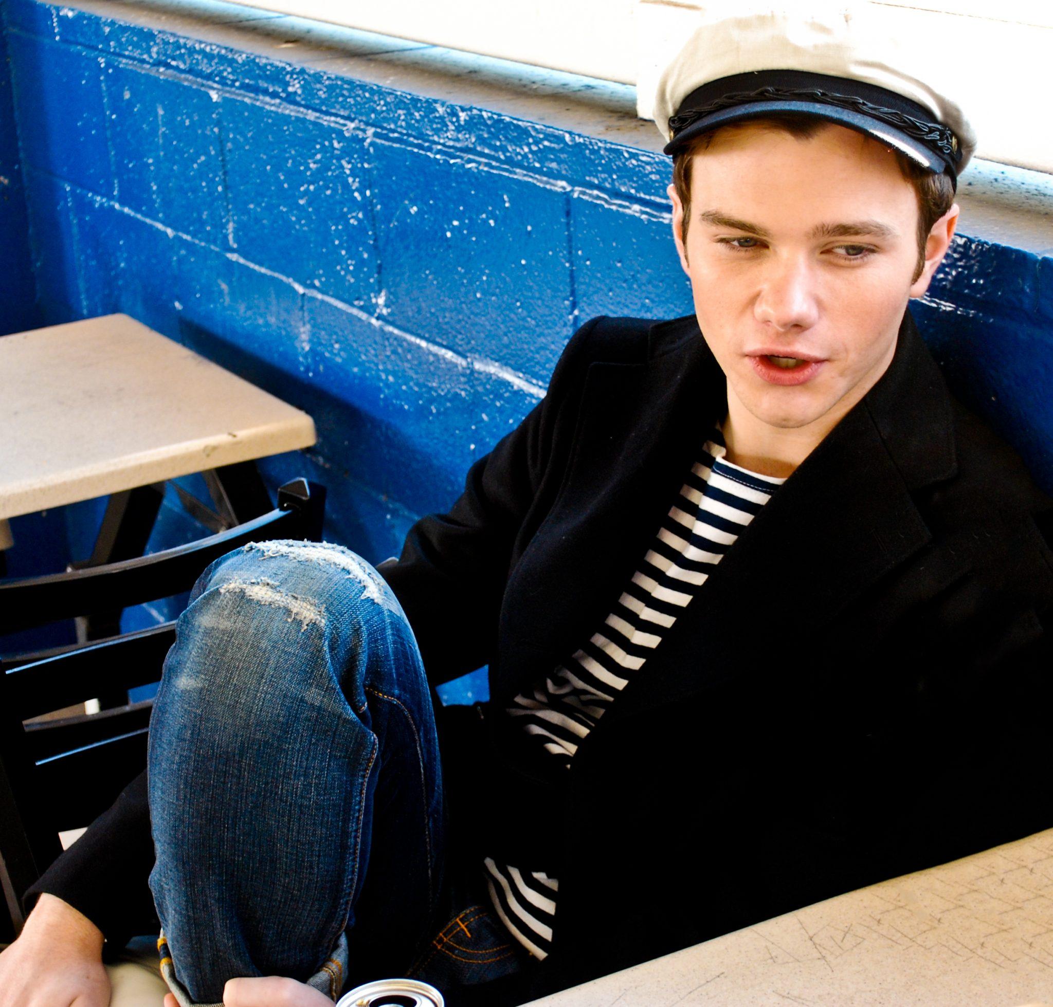 Being gay in school, Chris Colfer