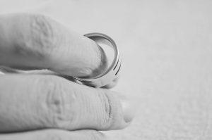 Hand with wedding band