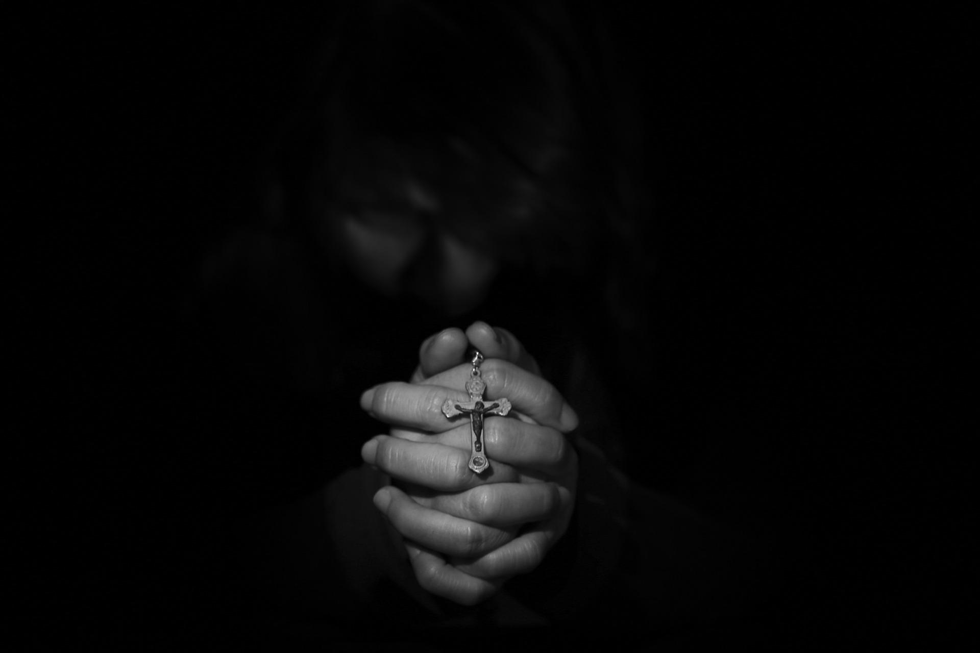 Hands praying religious